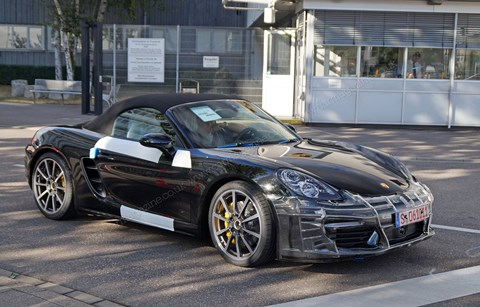 We spied this 2016 Porsche Boxster 981.2 on test near Stuttgart factory and museum