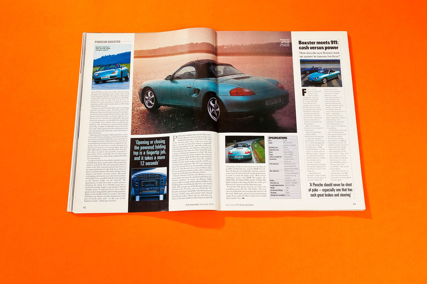 Seconds Out When We First Drove The Porsche Boxster Car Magazine 2001 Mg Zs Under Dash Fuse Box Diagram Georg Kacher Drives