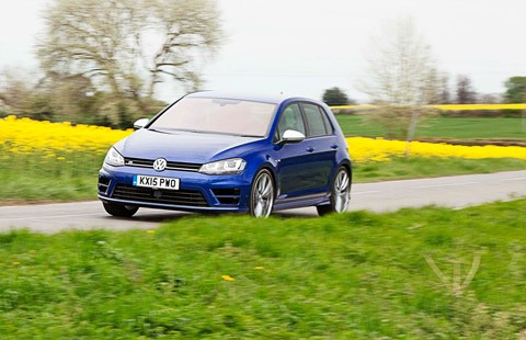 In action: our VW Golf R doing its thing