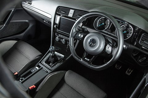 Inside the cabin of our VW Golf R