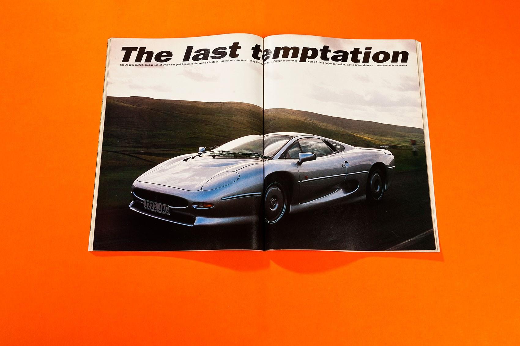 The last temptation - driving the Jaguar XJ220: CAR+ archive ...