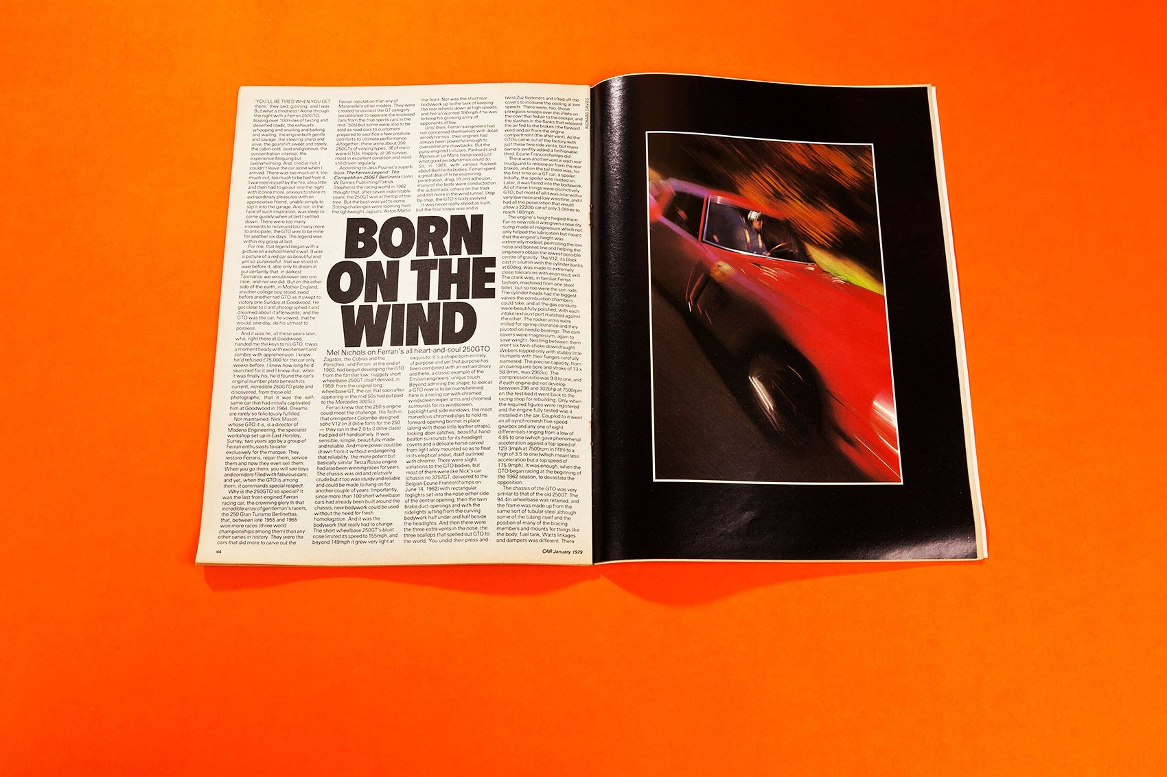 born on the wind - mel nichols drives the ferrari 250 gto: car+