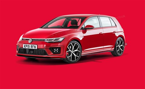 New 2019 VW Golf GTI: artist's impression by CAR magazine