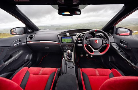 An outbreak of Scarlet Fever in the Civic Type R's typically lairy cabin
