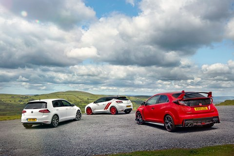 Three hot hatchbacks, three very different approaches