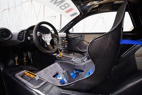 McLaren F1 GTR interior, lightweight for more speed