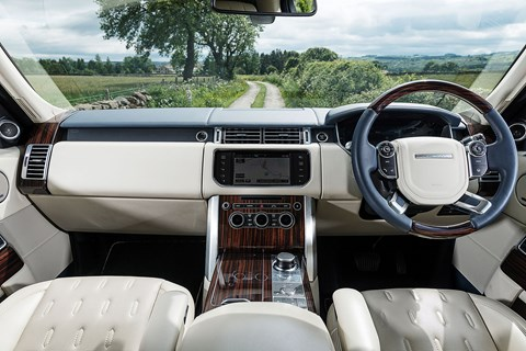 Range Rover has notched up quality and decluttered switchgear. Sat-nav off the pace, but still outclasses Rolls on the tech front