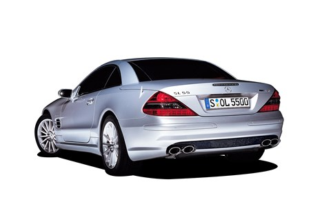 Mercedes SL55 AMG - 5.4-litre V8 and 0-60 under 5sec, what's not to like?