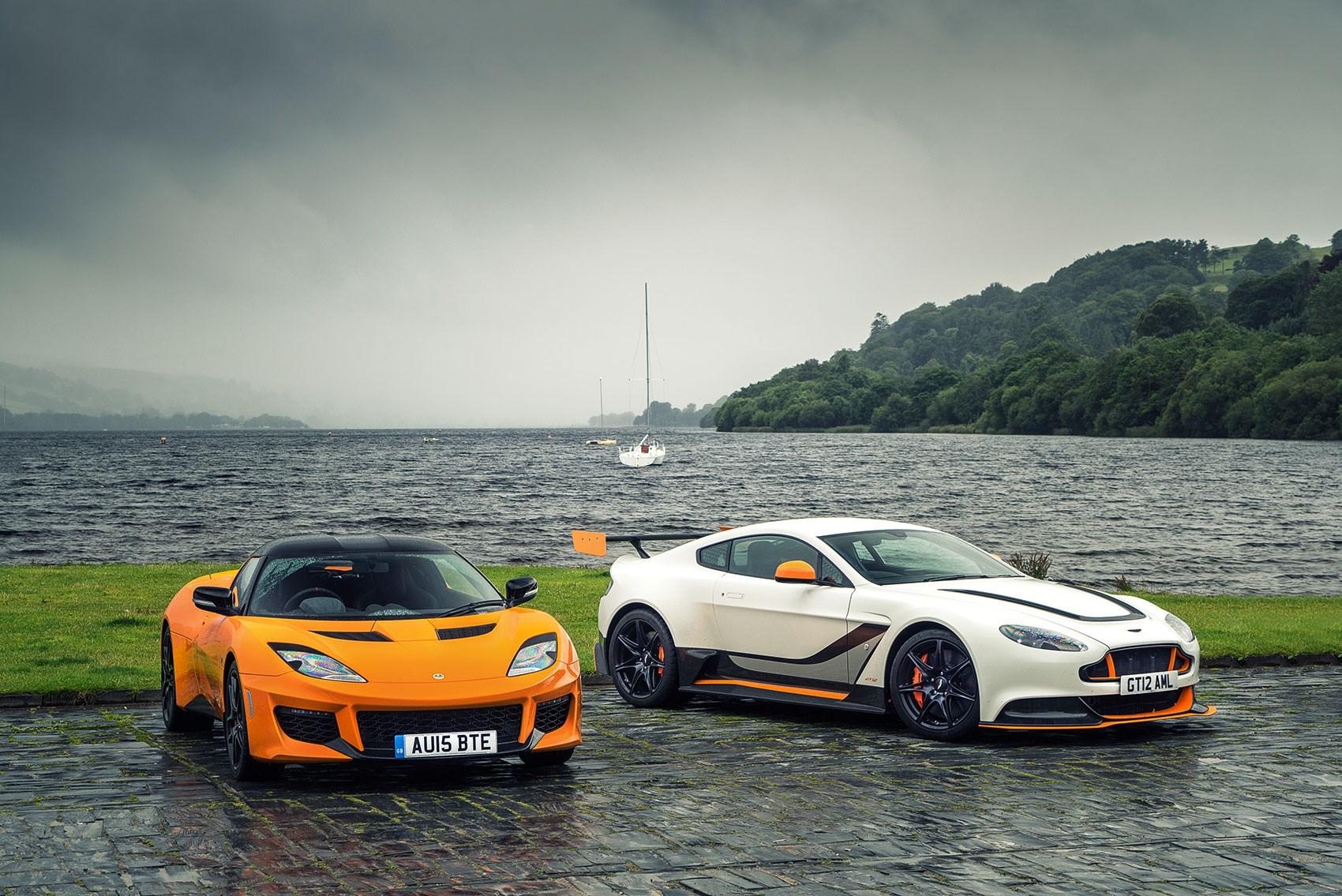 25 British Cars To Drive Before You Die 20 21 Aston Martin Gt12 And Lotus Evora 400 Car September 2015 Car Magazine