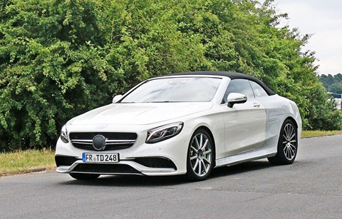 Mercedes' S63 AMG loses its roof as a convertible version is introduced.