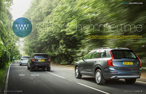Paul Bainbridge used some interesting comparison's to argue his point that the Volvo was better than the X5 in our giant test