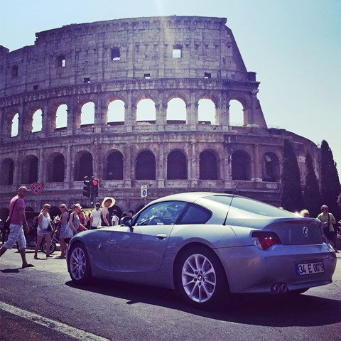 The Z4 conquering Rome! Can loves his straight-six BMW