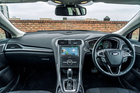 Inside the Ford Mondeo's cabin