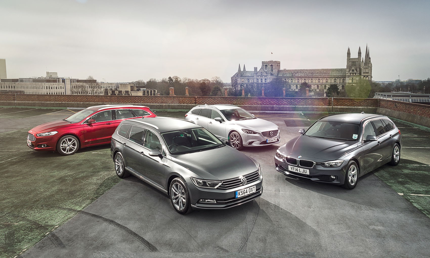 Vw Passat Estate Vs Ford Mondeo Vs Bmw 3 Series Touring Vs Mazda 6
