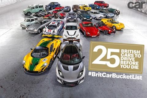 #BritCarBucketList: CAR magazine's top 50 British cars