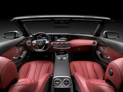 Inside the Mercedes S-class Cabriolet cabin
