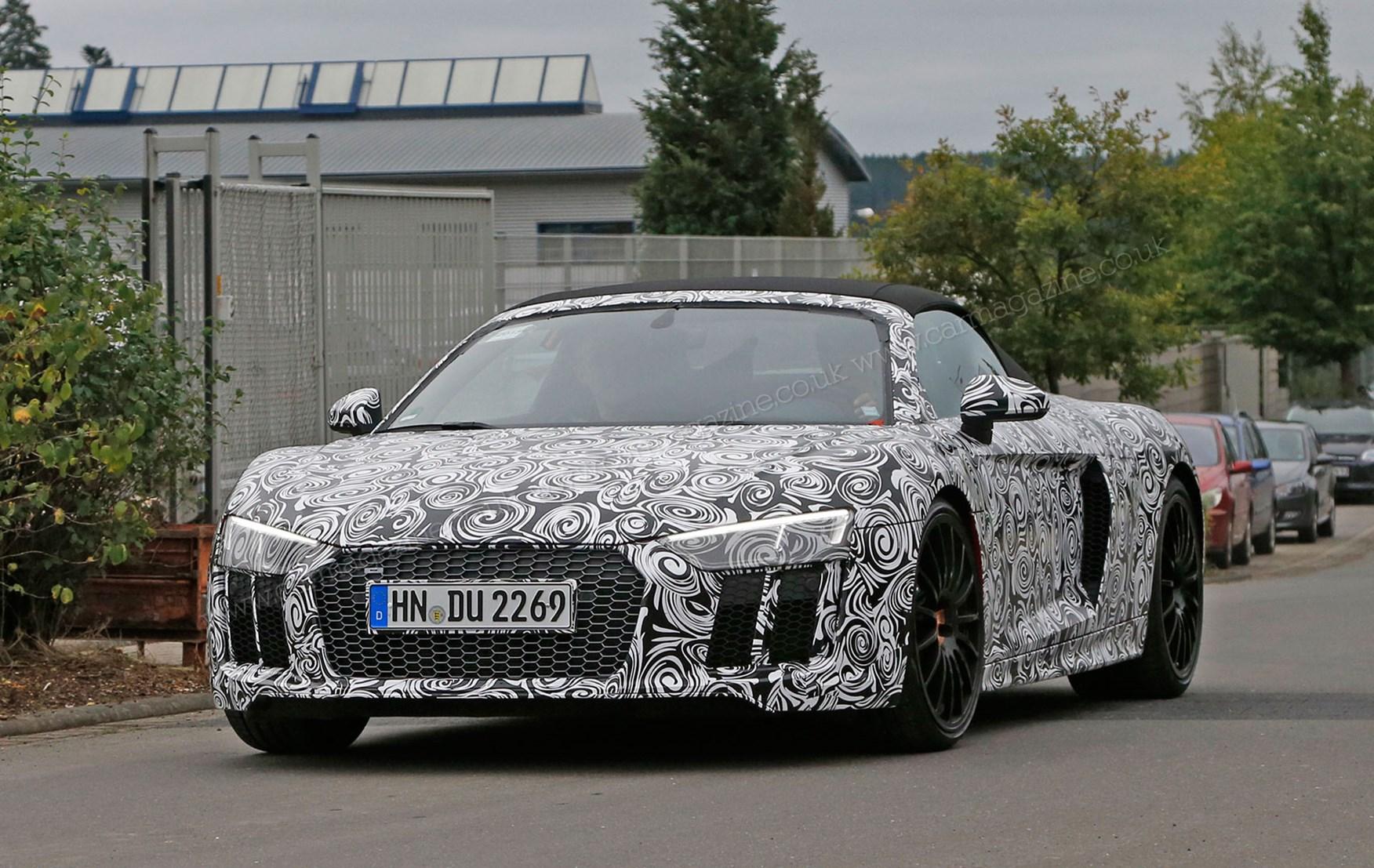 Audi r8 v10 plus spyder top speed 13