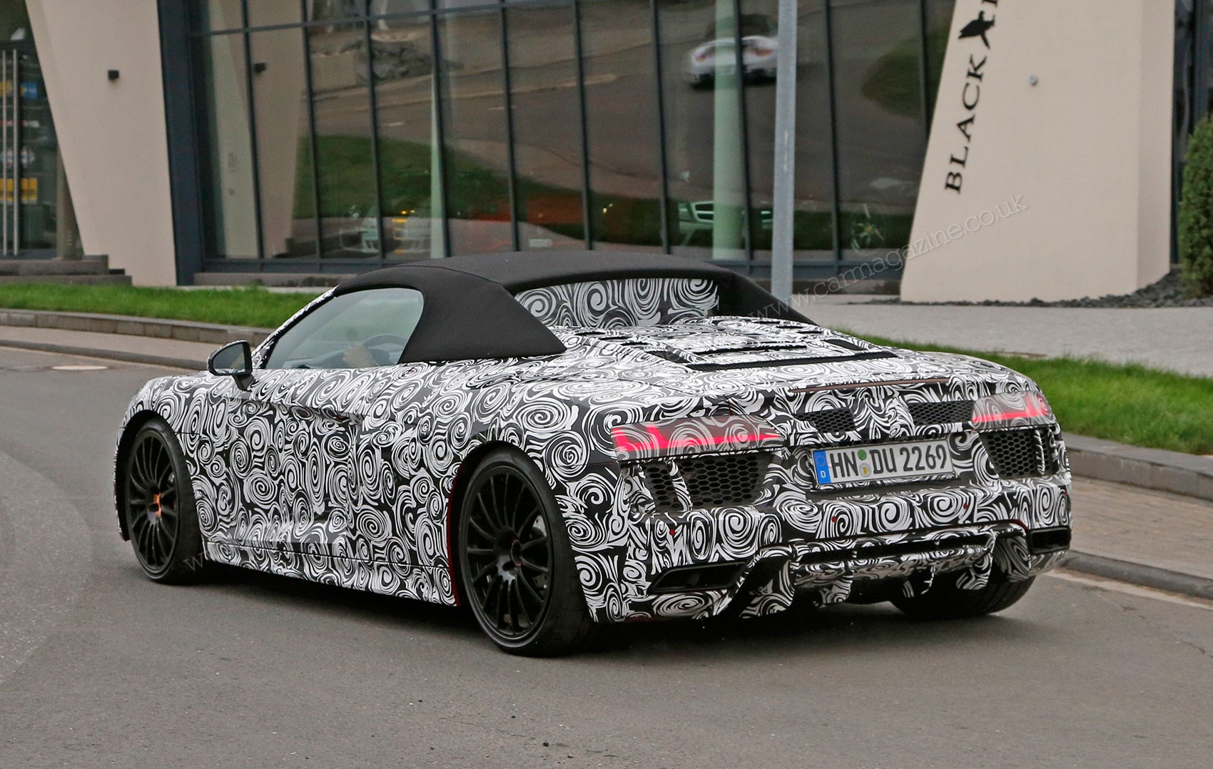 An openandshut case new Audi R8 Spyder scooped undisguised by