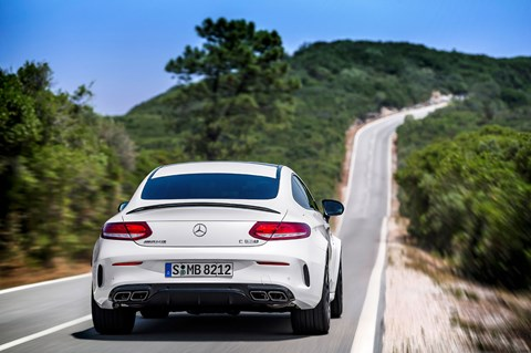 Quad exhaust features on both AMG C-class coupe's