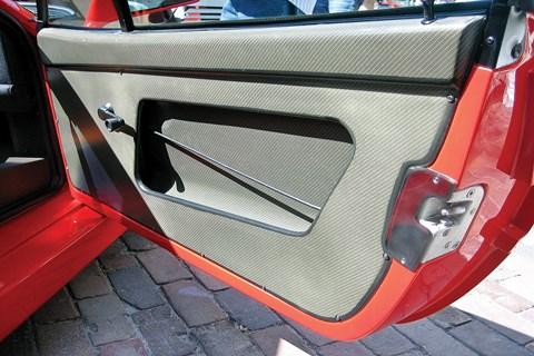 Ferrari F40 interior cord door pulls