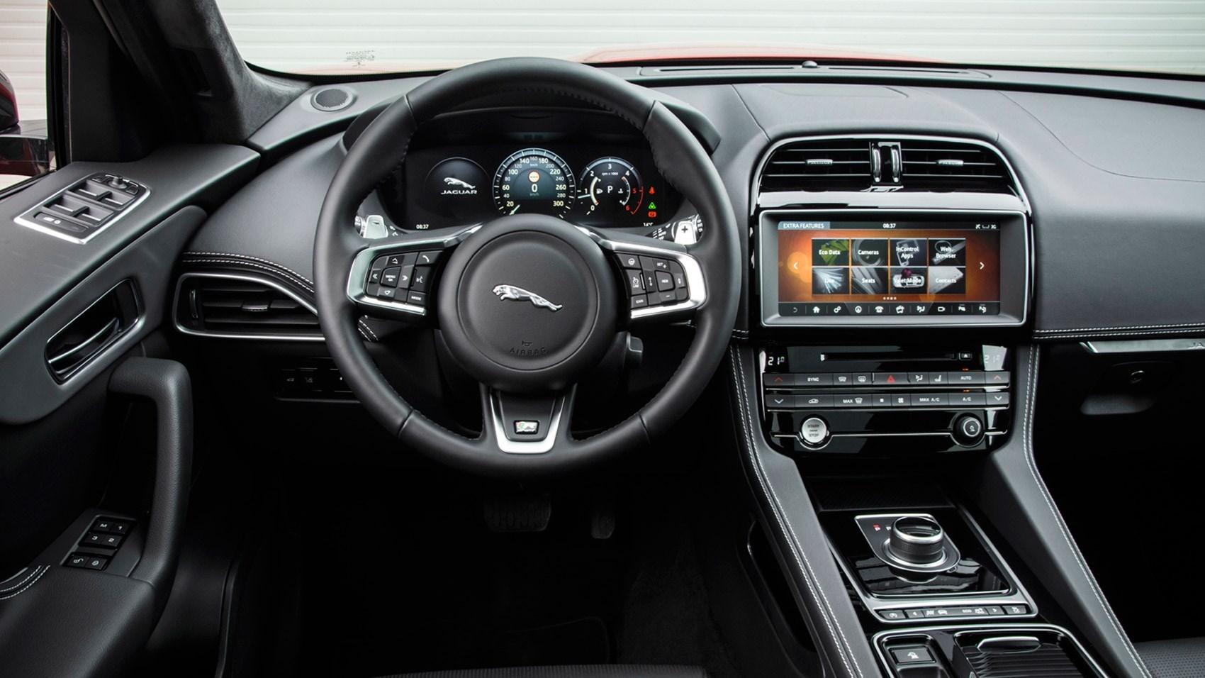 Inside The Jaguar F Pace S Cabin
