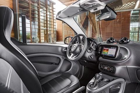 Inside the Smart Fortwo Cabrio's cabin