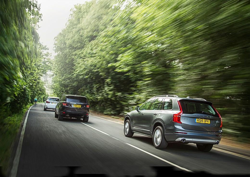 Volvo XC90 vs BMW X5 vs Range Rover Sport triple test review 2015