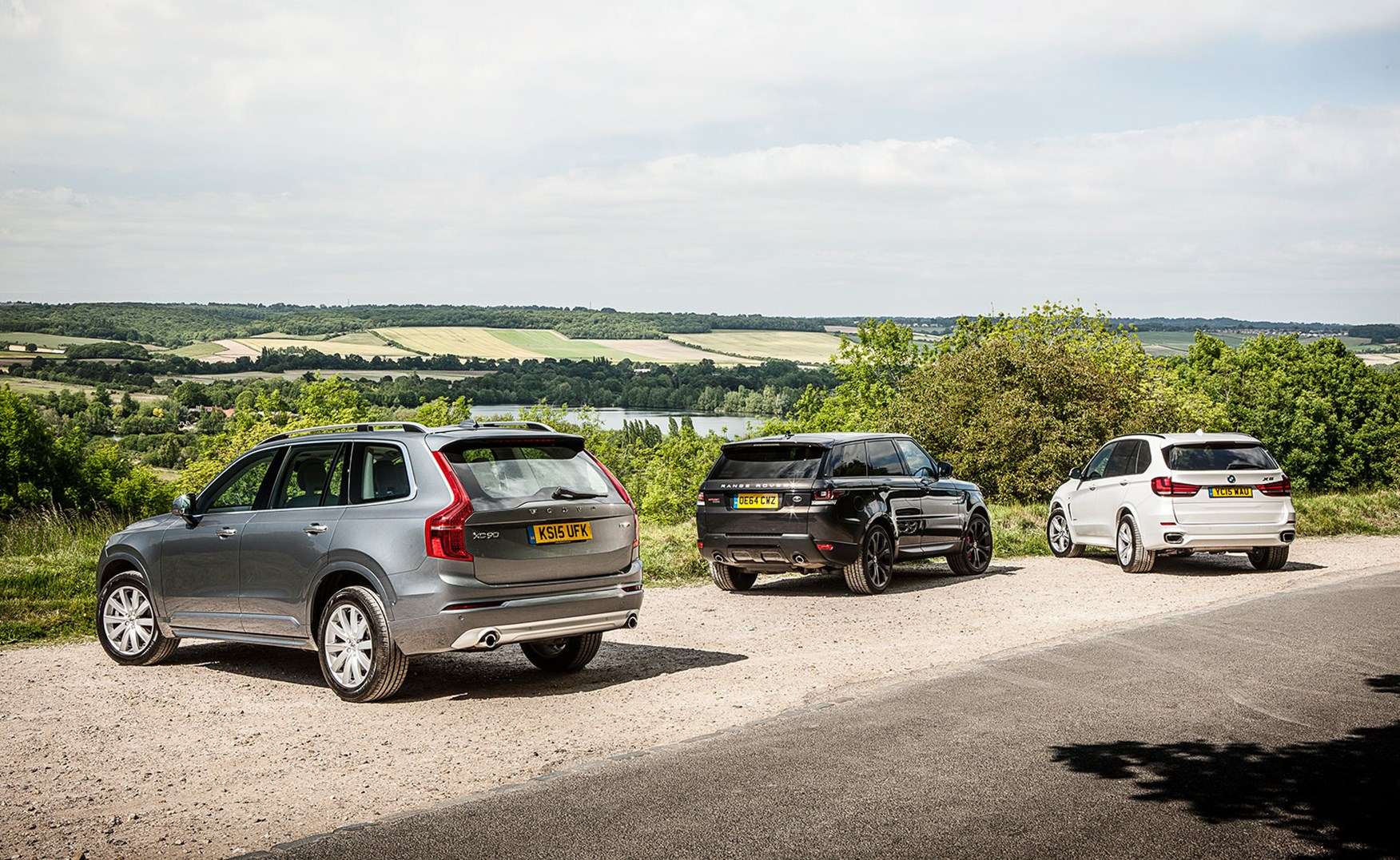 volvo xc90 vs bmw x5 vs range rover sport triple test review (2015