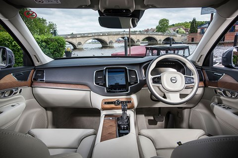 No S&M eroticism here - it's a Volvo, and we're 48 shades short - but the pale hide, modern surfaces and blonde wood veneers combine with a Kew Gardens-spec glasshouse to make it feel very airy