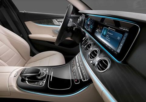 Inside the new Mercedes E-class cabin