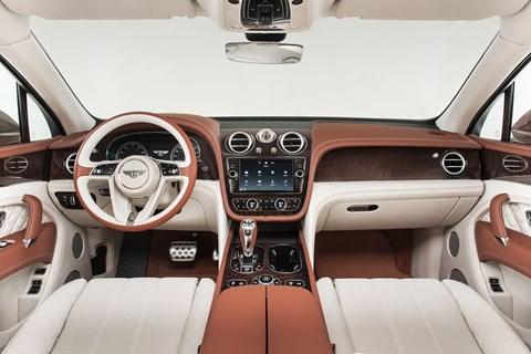 Inside the Bentley Bentayga's cabin