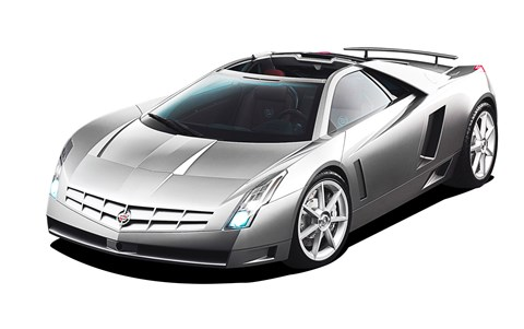 Cox's mid-engined Cadillac Cien concept from 2002. He drove it round Le Mans with GM legend Bob Lutz riding shotgun