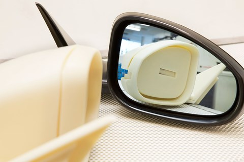 A wing mirror is completed in hours