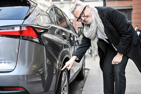 Stephen Bayley with CAR's Lexus NX