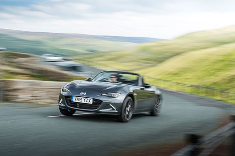 Lane deviation warning not needed in the MX-5. Trust us – you won't drift off to sleep