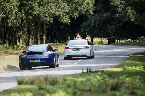This 911 found a new composure over bumpy roads that the TT can't match