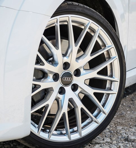 Audi's 20in alloys add beauty with one hand and steal ride quality with the other