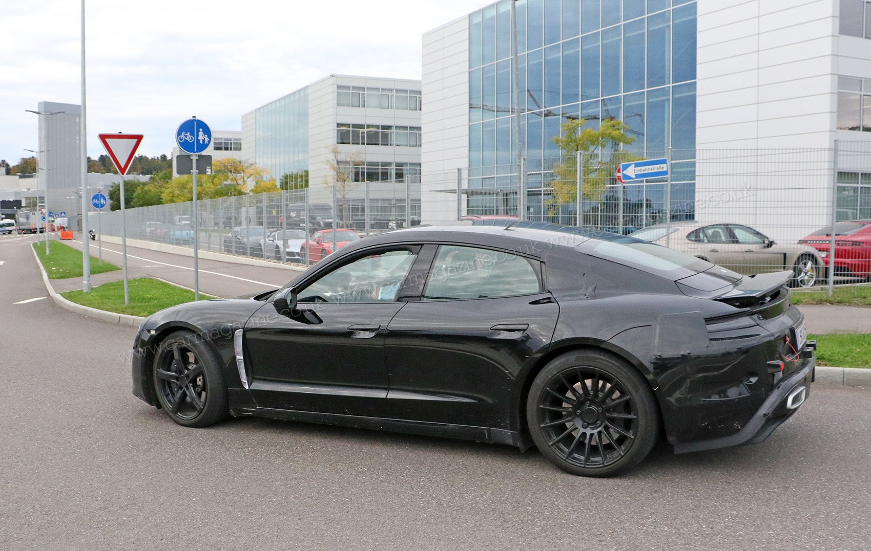 Exhaust Pipes For Show It S The New Porsche Mission E Electric Car