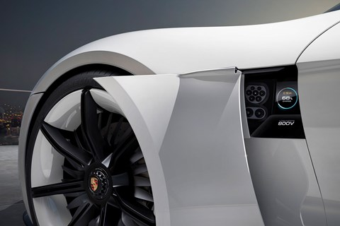 Porsche Taycan Ev Snapped With Minimal Disguise Car