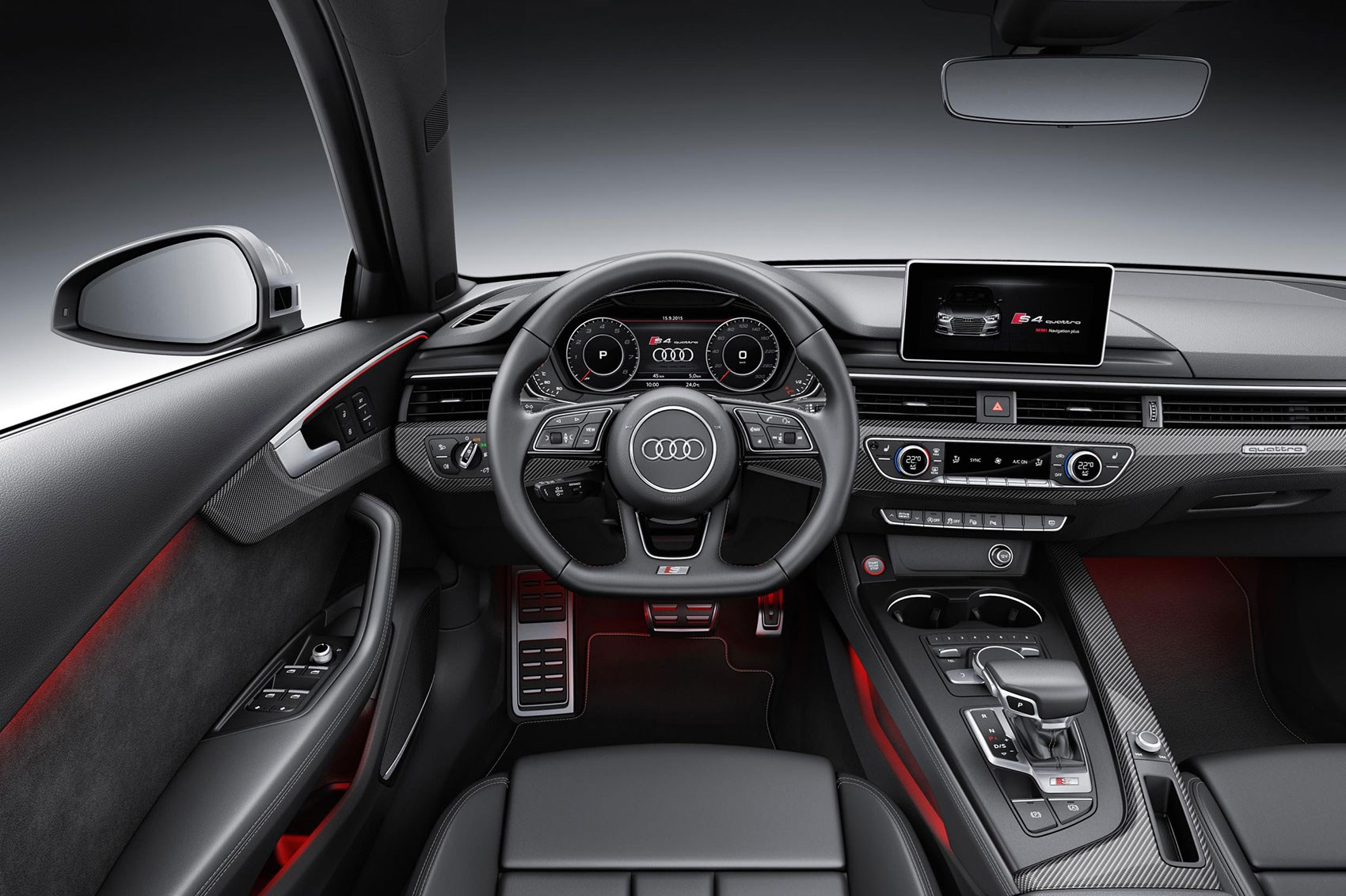 It s turbo town as new audi s4 and s4 avant are unveiled for Interieur audi a4 avant