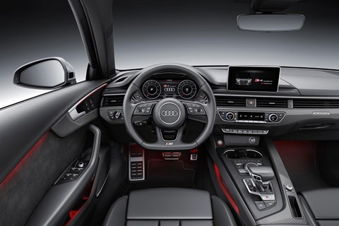 Audi's new virtual cockpit has been added to the new S4 and S4 Avant