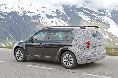 Skoda SUV prototype mountain testing