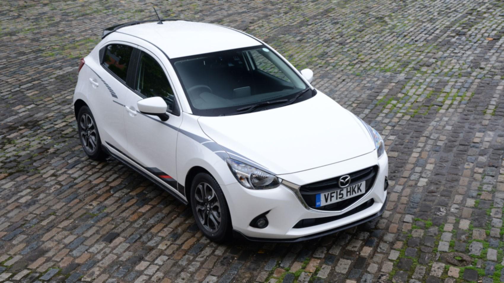 Mazda 2 sport black kit aplenty but not much shove