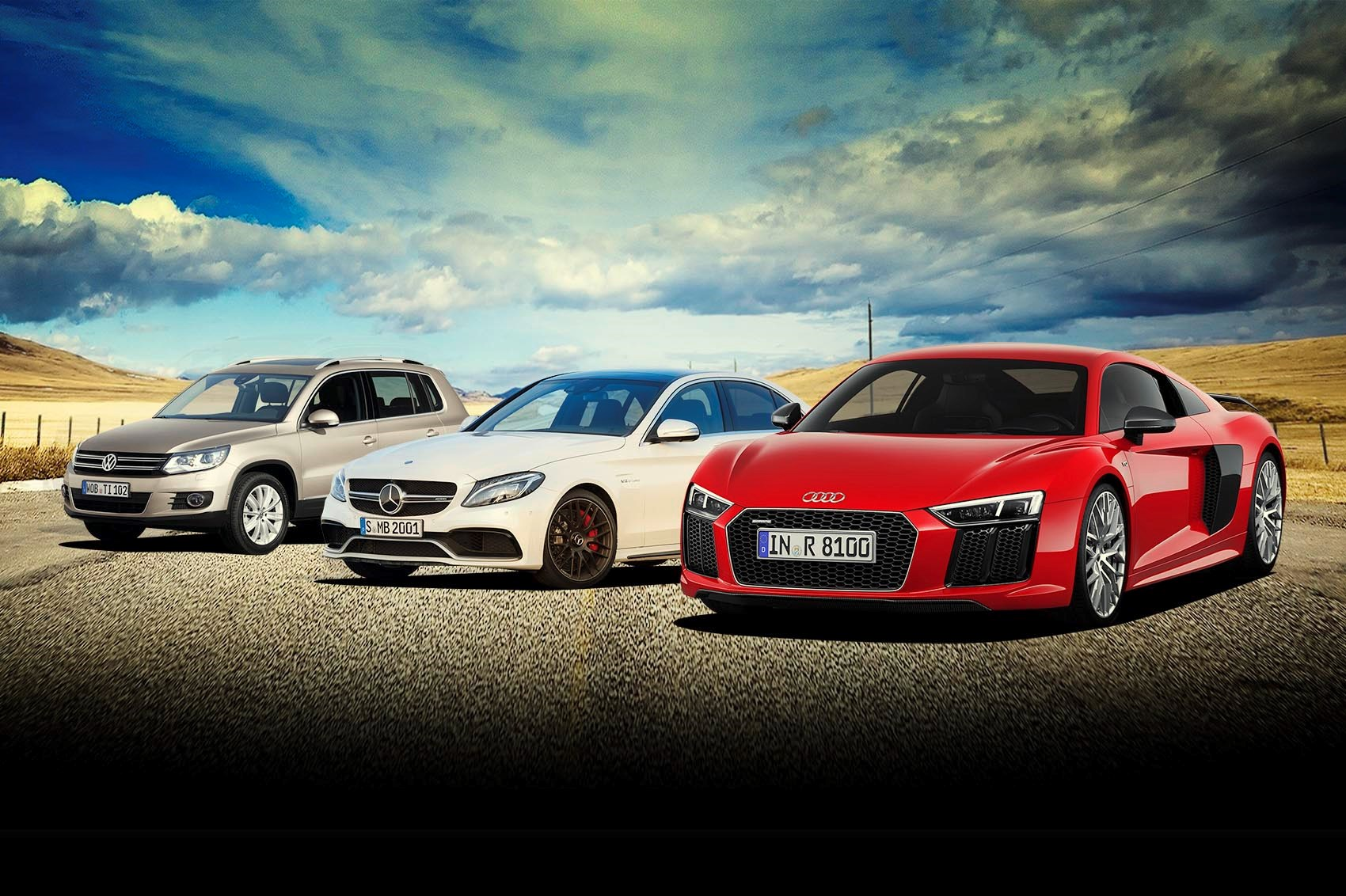 Win an audi r8 mercedes amg c63 and a vw tiguan with car for Win a mercedes benz