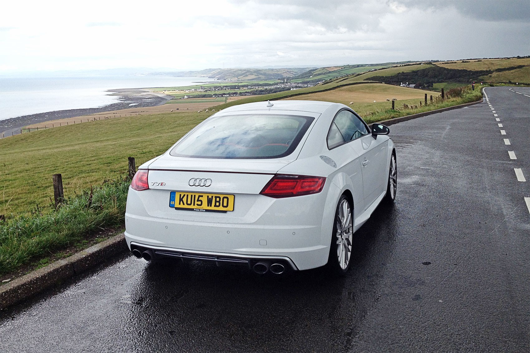 Gauche but comfy Our TT resplendent in Wales in a rare road grime-free  moment ...