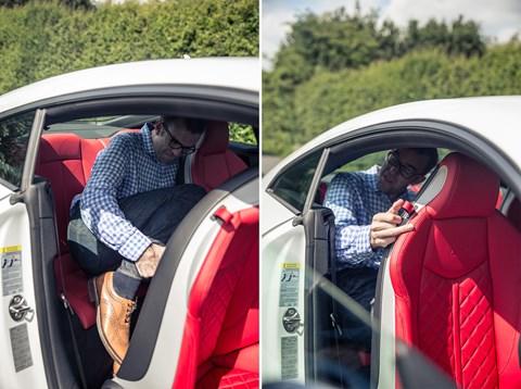 Audi TT rear seats