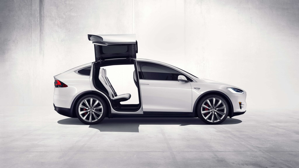Only Rear Falcon Doors Lift Up Gullwing Style Lifestyle Accessories Available For Tesla