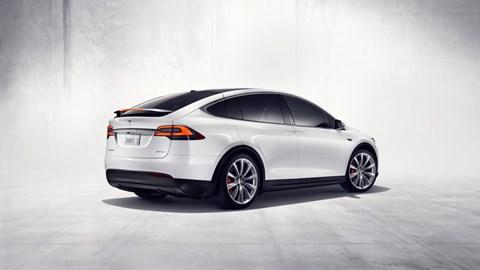 Tesla Model X: rear view