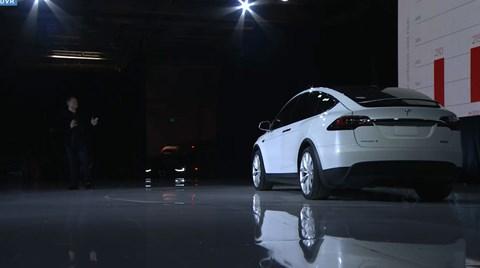Elon Musk unveils the Tesla Model X on 30 September 2015