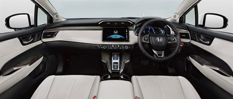 Inside the Honda Clarity's cabin